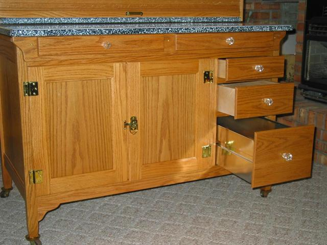 Reproduction seller 39 s kitchen cabinet wood working my for Reproduction kitchen cabinets