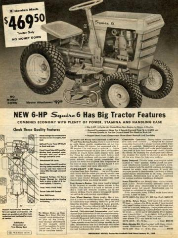 Bolens Built Montgomery Wards Tractor - Ride On's - My Old