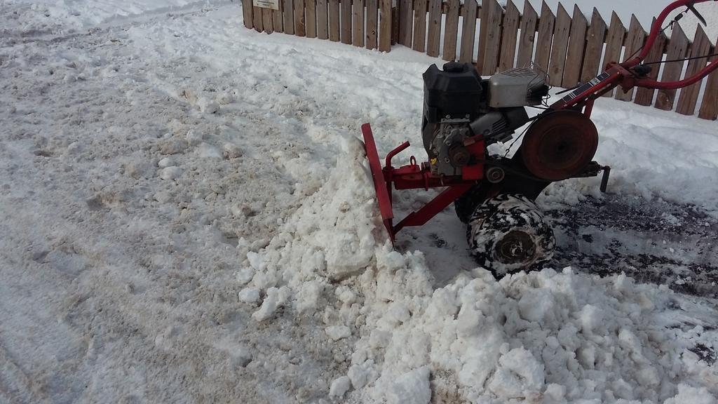My merry tiller clearing snow Longforgan 1 march 2018.jpg